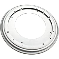 Baosity 6/8/9/12'' Zinc-plated Round Lazy Susan Swivel Bearing Turntable Table Plate - Silver, 12 Inch