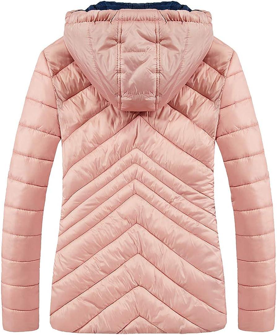 SCHONTAN Womens Winter Puffer Jacket Hooded Warm Winter Down Coats Outwear for Women