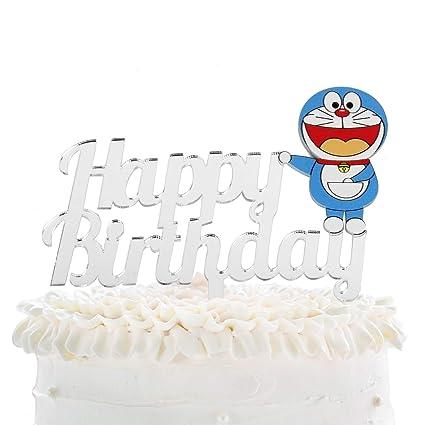Phenomenal Cartoon Happy Birthday Cake Topper Japaness Manga Doreamon Anime Funny Birthday Cards Online Unhofree Goldxyz