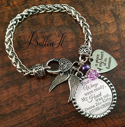 SYMPATHY gift, In memory of sympathy gift, REMEMBRANCE jewelry, remembrance gifts, Your wings were ready my heart was not, ANGEL wings, cross charm, grief mourning jewelry