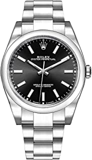 Mens Rolex Oyster Perpetual 39 Black Dial Luxury Watch (Ref. 114300)