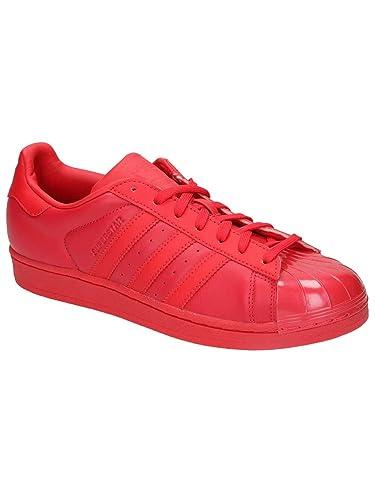 wholesale dealer ec3da 29ba5 adidas Superstar Glossy Toe Damen Sneaker Rot