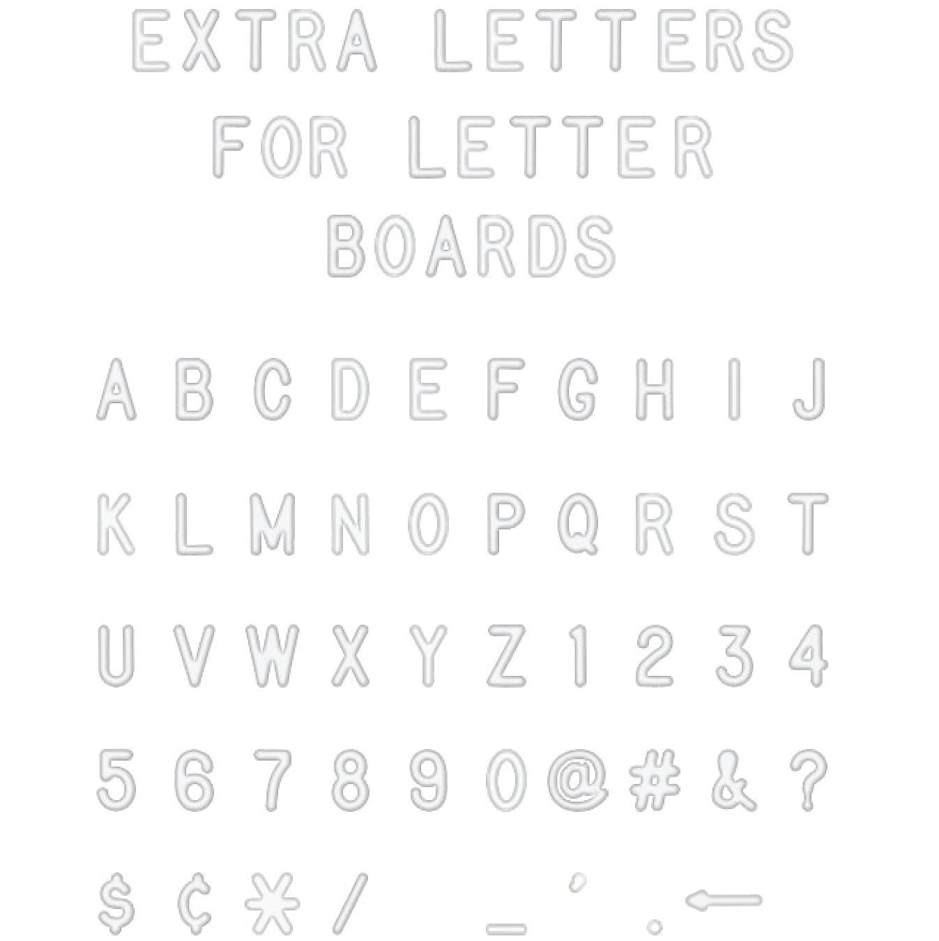 Amazon White Plastic Letter Set For Changeable Felt Letter