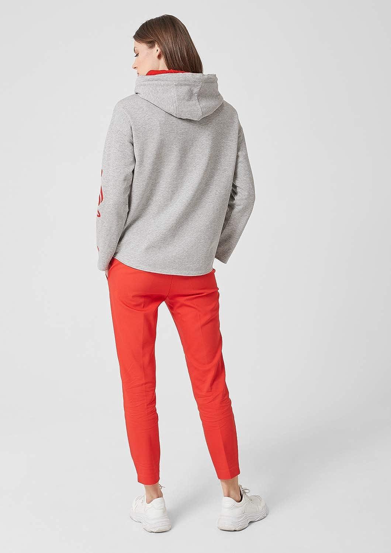 s.Oliver Damen Sweatshirt Grau (Grey Melange Placed Print 94e0)