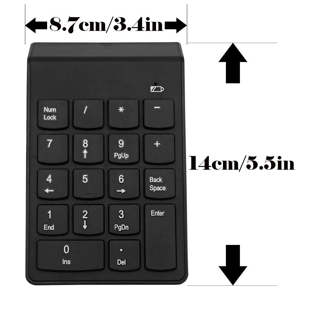 OurLeeme Mini USB Teclado Num/érico Construir-en el Receptor 18 Teclas num/éricas del Teclado Num/érico 2.4G Mini USB para el Ordenador Port/átil del PC de sobremesa Port/átil