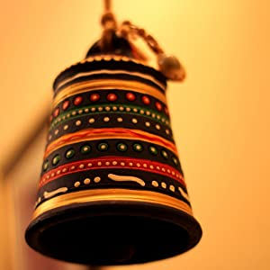 Unravel India Warli Hand painted Teracotta Hanging Bell