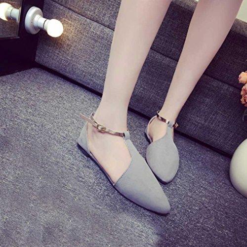 Grey Flat Flats Punta on Slip Fashion Spring Shoes Comfortable Scarpe Piatta Donna Igemy Da BOz1xwq7T