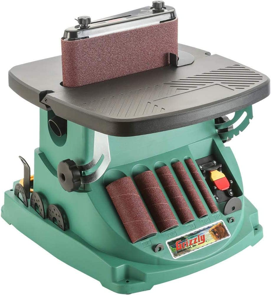 Grizzly Industrial T27417 - Oscillating Edge Belt and Spindle Sander