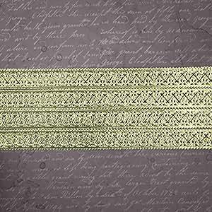 Prima Marketing Relics & Artifacts Dresden Paper Trim Strips-Scallop & Fleur/Gold 21