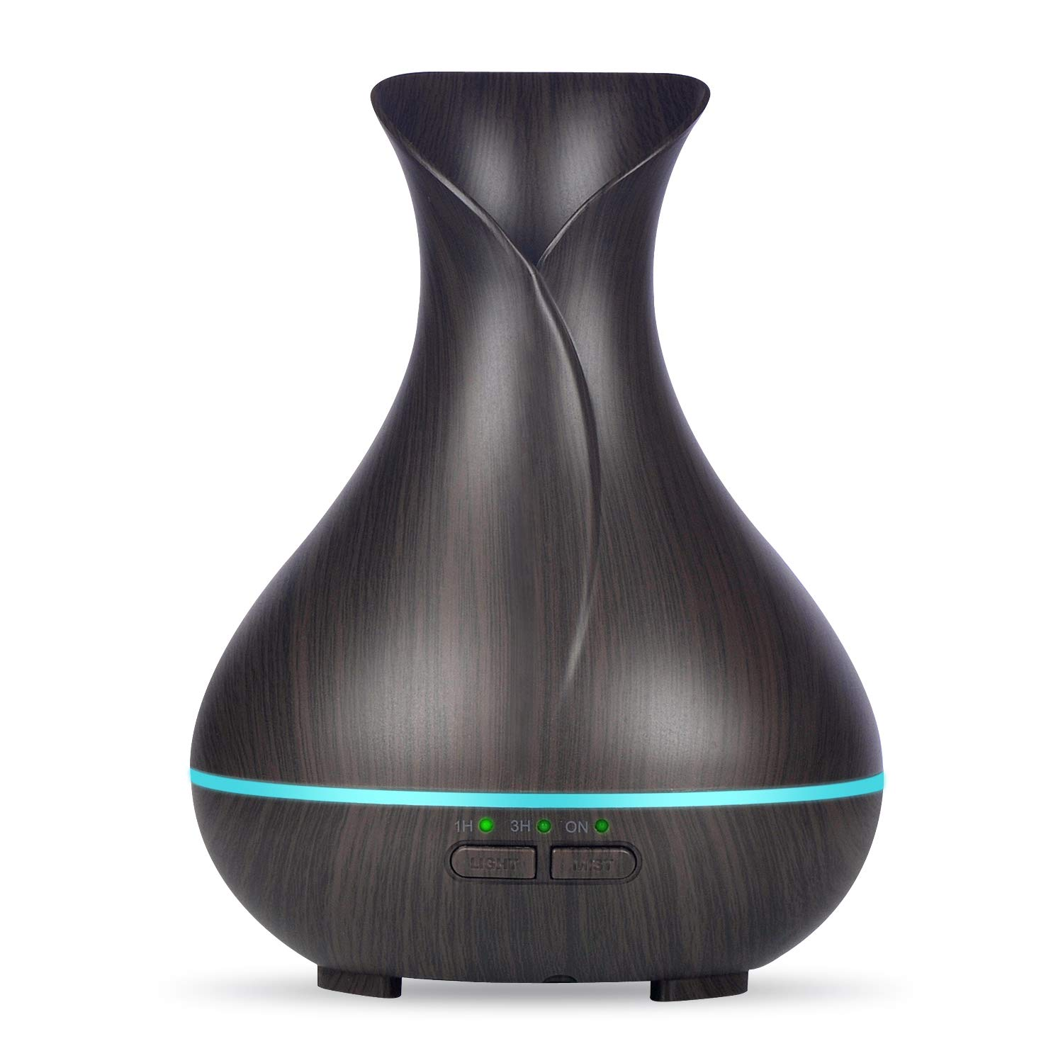 OliveTech Mini Essential Oil Diffuser, 150ml Wood Grain Aromatherapy Diffuser Ultrasonic Cool Mist Aroma Humidifier with Waterless Auto Shut-off Diffuser for Essential Oil for Home Office Bedroom Baby