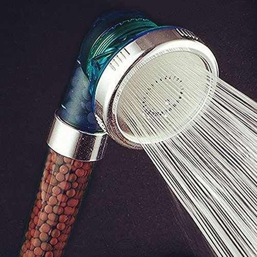 Filtration Shower Head ,PretiHom Ionic Filter Handheld with 3 Control Switch Shower Modes,200% High Pressure,30% Water Saving Ionic Handheld Showerhead