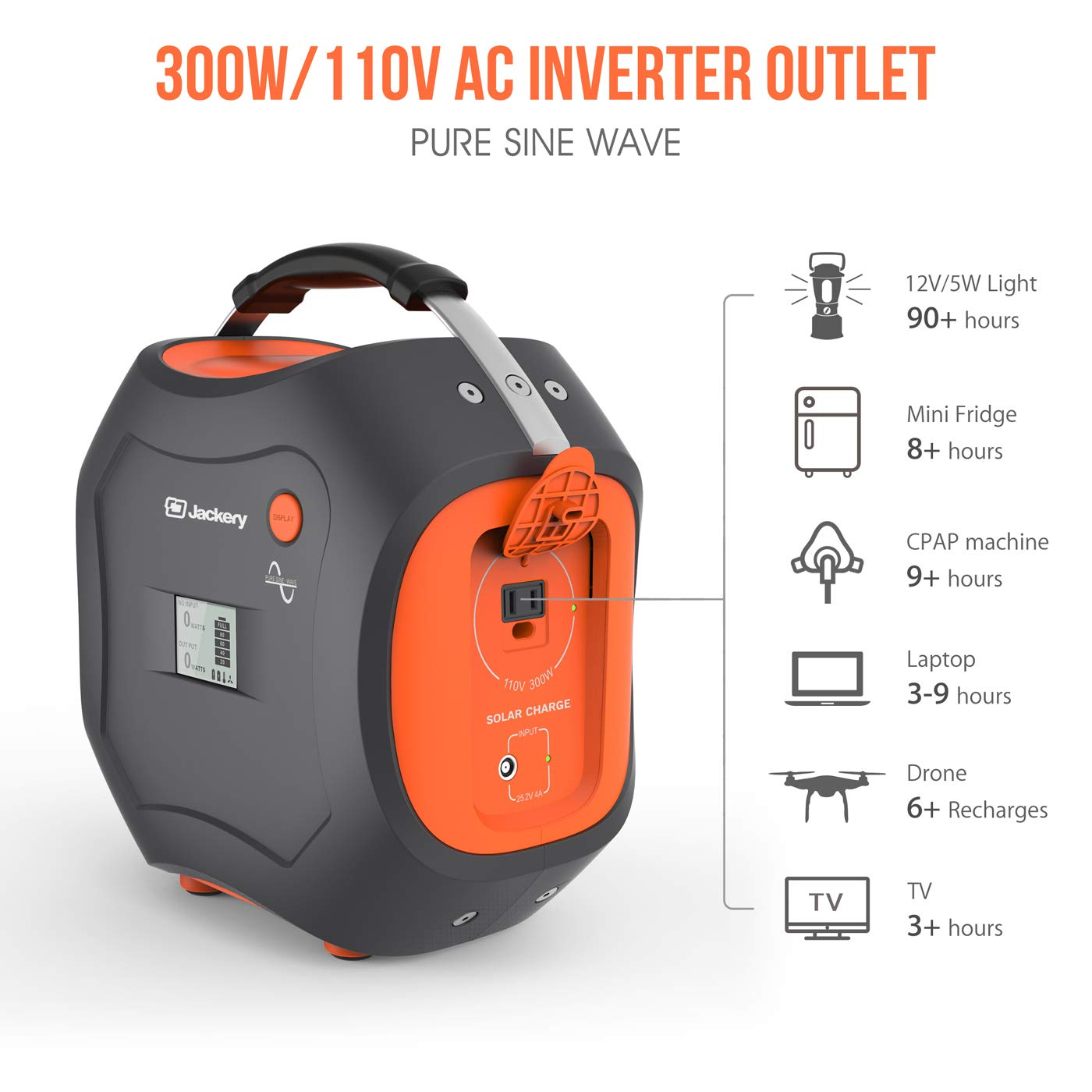 Cpap Battery Backup Powerpro 500 Portable Power Electrical Wiring In The Home Ac And Well Pump Wire Colors Station Jackery 500wh Generator Lithium Pack With 110v 300w 500w Peak Pure Sine Wave Inverter Outlet For