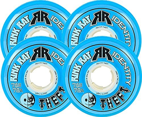 78a Blue Wheels - Rink Rat Identity Theft 78A Inline Hockey Skate Wheels - 4 Pack 2014 Color: Blue Size: 72mm Model: DECK