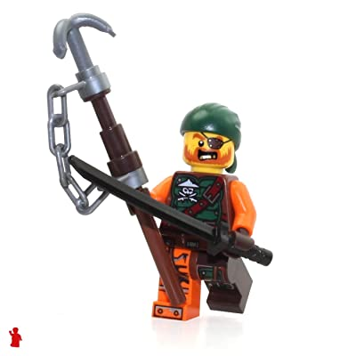 LEGO Ninjago Minifigure - Bucko the Pirate (Skybound) with Sword and Staff 70593: Toys & Games