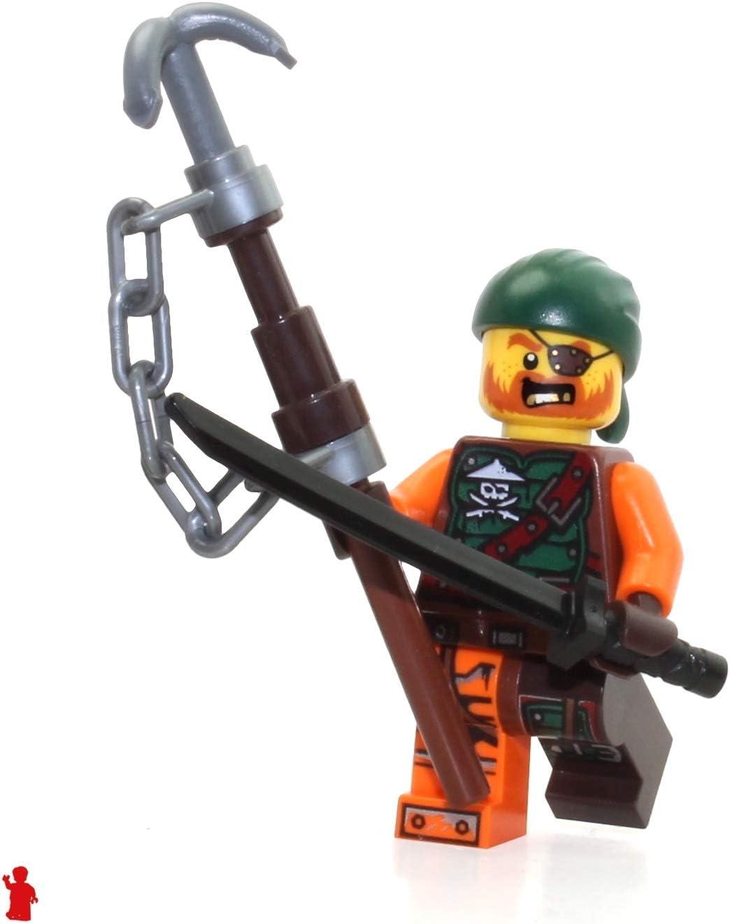 Lego 5 New Dark Brown Minifigure Scabbard for Two Katanas Pieces