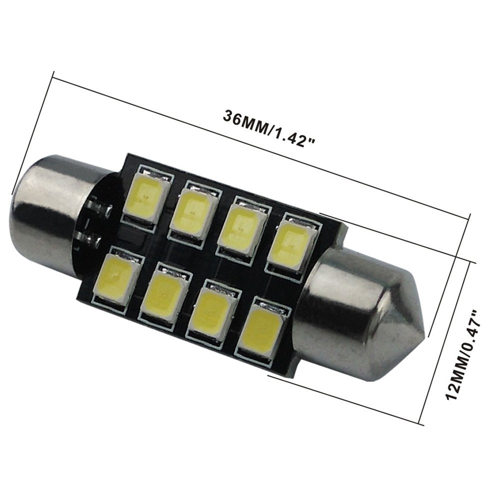 Audak Festoon Led Bulb 36mm 2835 8smd Canbus Error Free 1957 Chevy Dome Light Fit For Interior Map Lights Door Courtesy Trunk License Plate