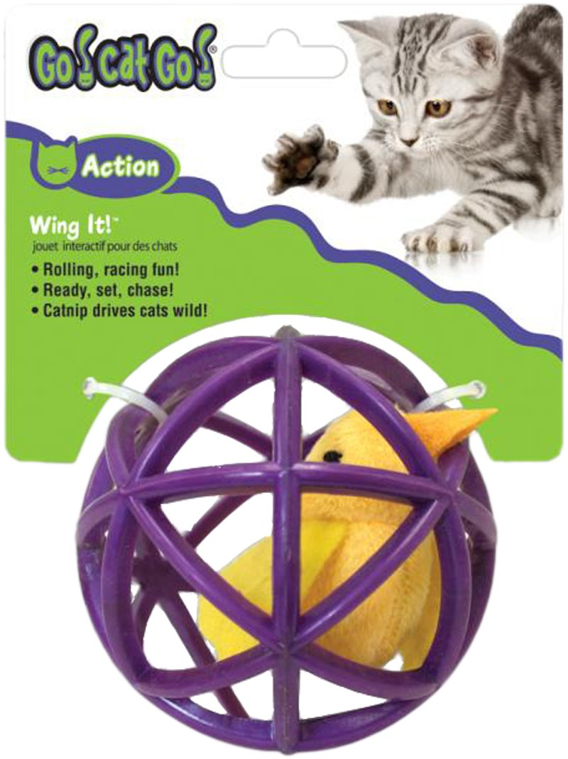 OurPets Bird in Cage, Wing it, Cat Toy