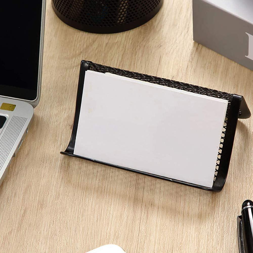 display da ufficio porta tessere in filo spinato 4 pezzi colore: nero organizer per carte segnaposto da scrivania Metal-Mesh Espositore per biglietti da visita