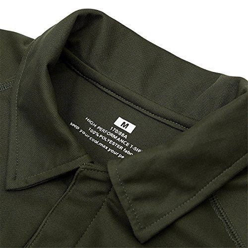 Polo Hommes Militaire Tactique de Combat de Chasse à Manches Courtes Tenu Airsoft Camouflage T-Shirt Tactical Uniforme… 3
