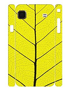 Artistic Theme Smart Phone Case With Leaf Vein Graphic Anti Scratch Case Cover for Samsung Galaxy S I9000