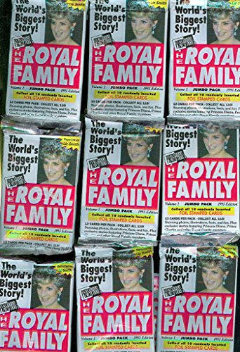 Royal Family Princess Diana 48 Wax Pack ~ Box Complete Set (Press Pass Football Box)