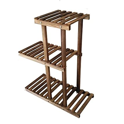 Amazing WANGXIAOLIN Small Simple Flower Stand Solid Wood Living Room Balcony Single  Wooden Modern Minimalist Clearance Mini
