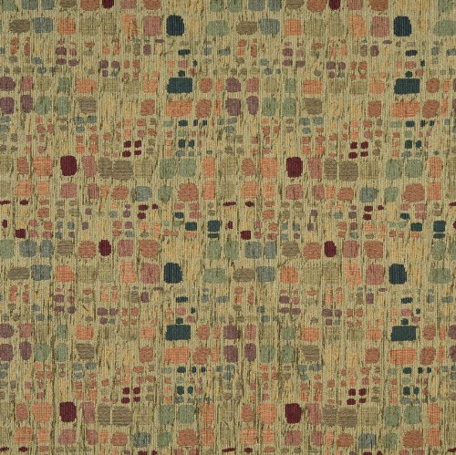 Cypress Green Retro Retro Color Palette Abstract Chenille Upholstery Fabric by the (Contemporary Retro Palette)