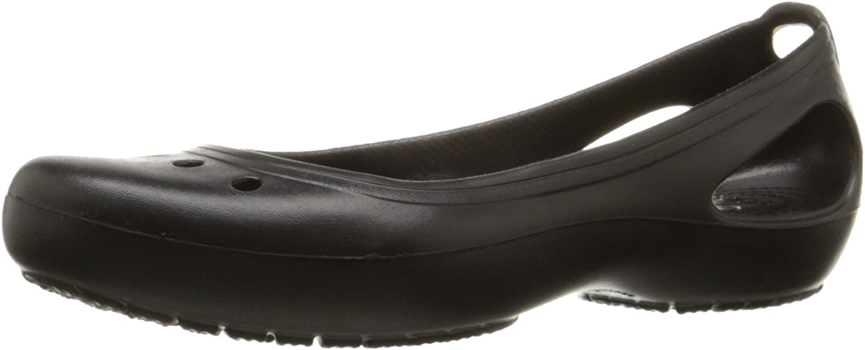 Crocs Women's Kadee Leopard Print Casual Dress Shoe|Comfort Fashion Flat