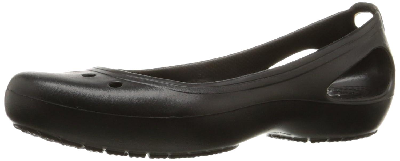 Crocs Women's Kadee Flat B074F1W146 6 B(M) US|Black/Black