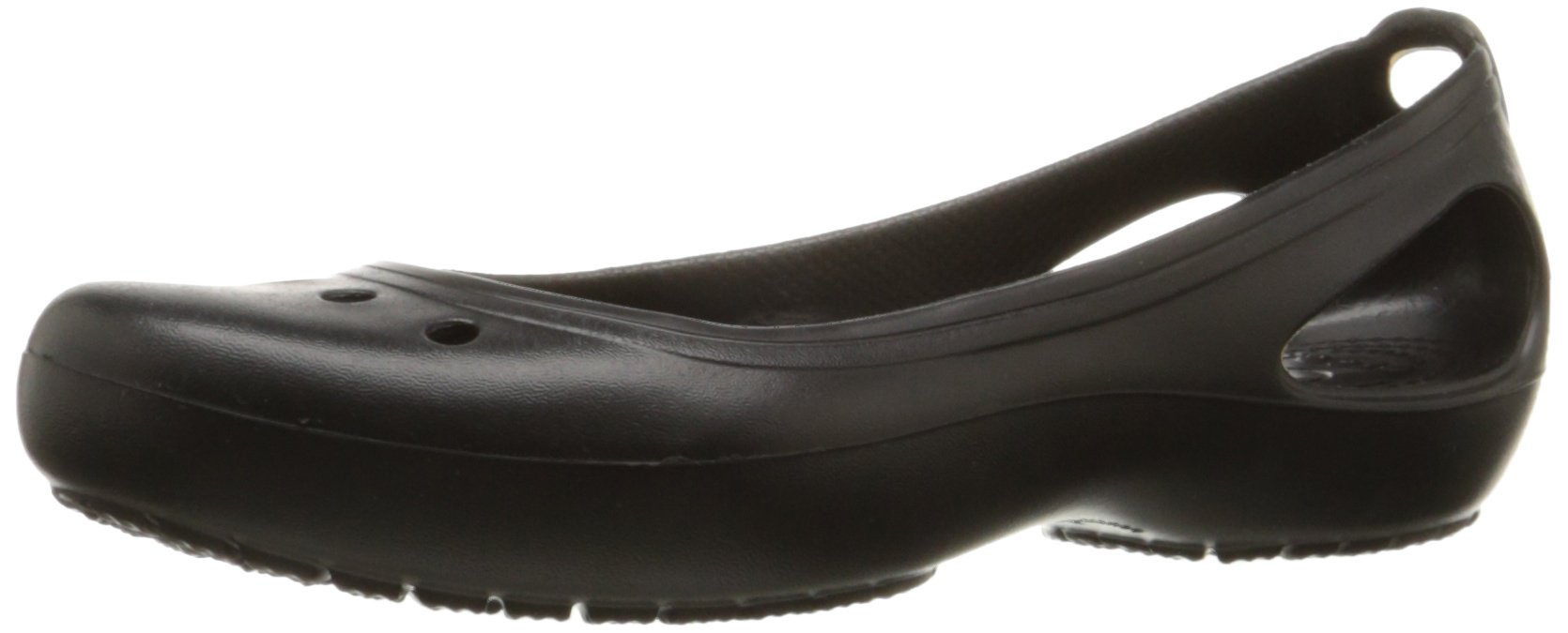 Crocs Women's Kadee Ballet Flat,Black/Black,8 M US by Crocs (Image #1)