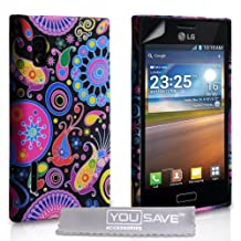 LG Optimus L5 E610 Silicone Jellyfish Gel Case - Multicoloured