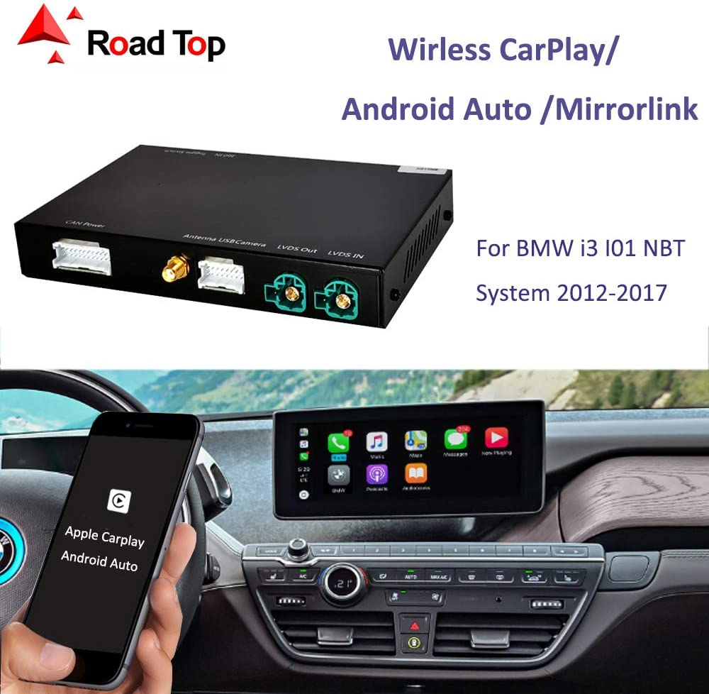 with MirrorLink Autolink Airplay Function Wireless CarPlay Android Auto for BMW i3 I01 NBT System 2012-2017