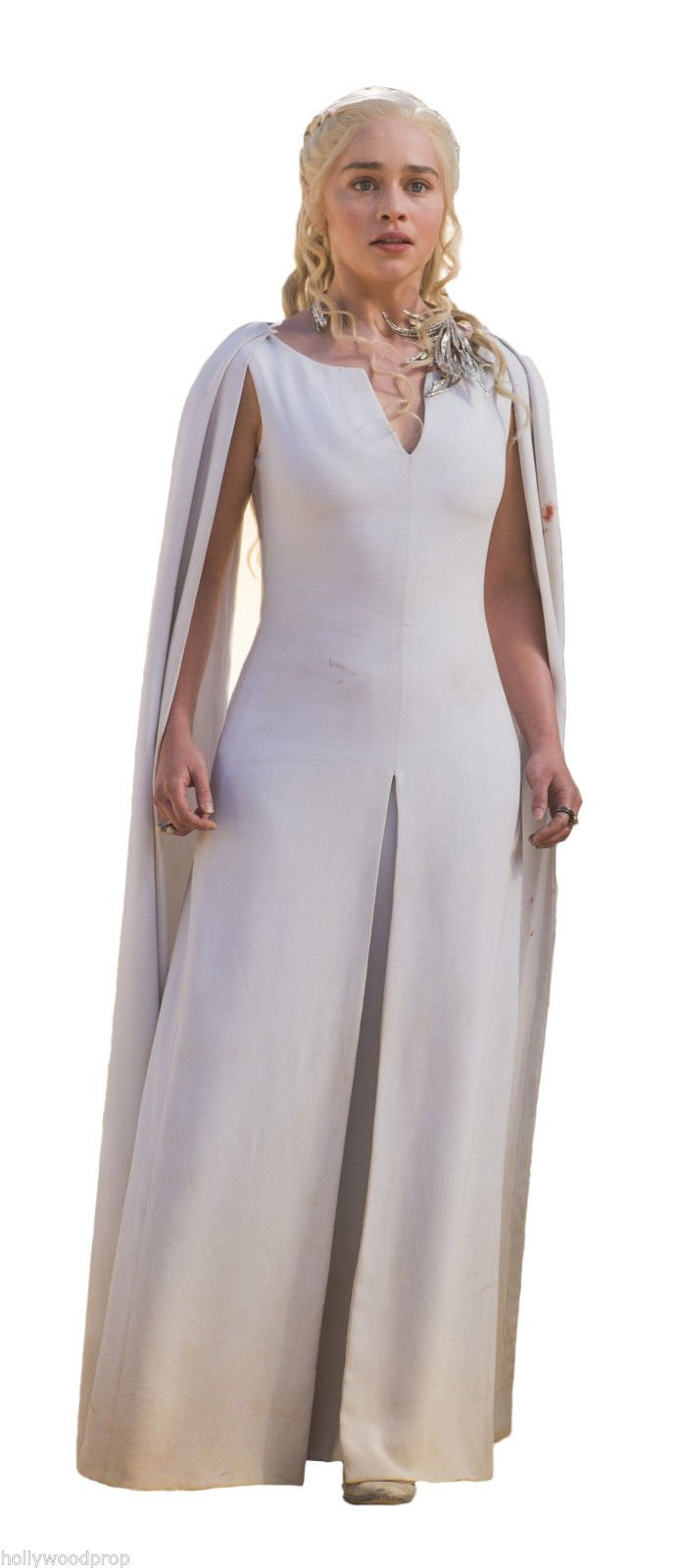 GAME OF THRONES DAENERYS MOTHER OF DRAGONS EMILIA CLARKE LIFESIZE CARDBOARD STANDUP STANDEE CUTOUT POSTER FIGURE by Hollywoodprop