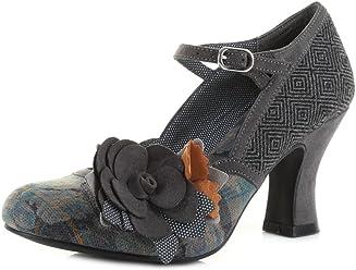 59449514 Ruby Shoo Dee Grey Womens Hi Heels Shoes
