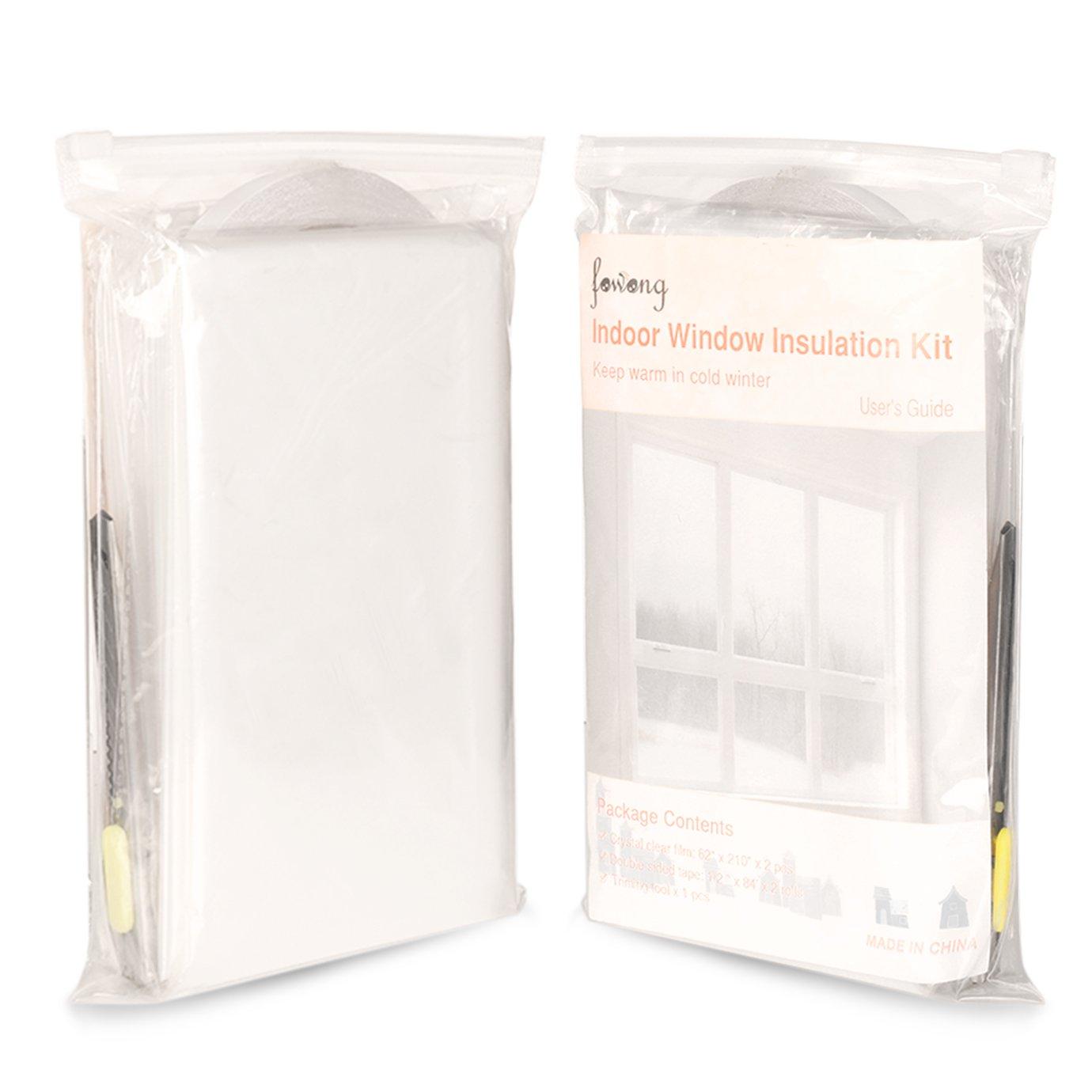 Window Heat Shrink Film Clear Energy Saver Window Wrap Insulator Kit Plastic Ebay
