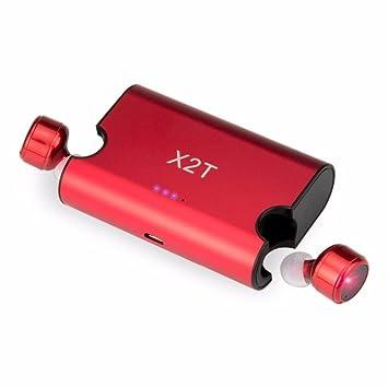 X2T - Auriculares inalámbricos Bluetooth con auriculares Bluetooth 4.2, auriculares con auriculares Bluetooth con orejas