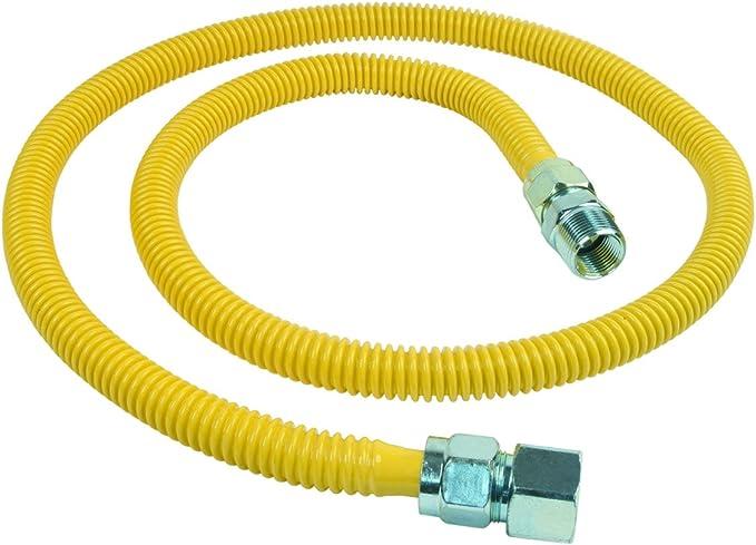 BrassCraft CSSC21-60 P 3//4-Inch FIP x 3//4-Inch MIP x 60-Inch ProCoat Gas Appliance Connector OD 93,200 BTU 5//8-Inch
