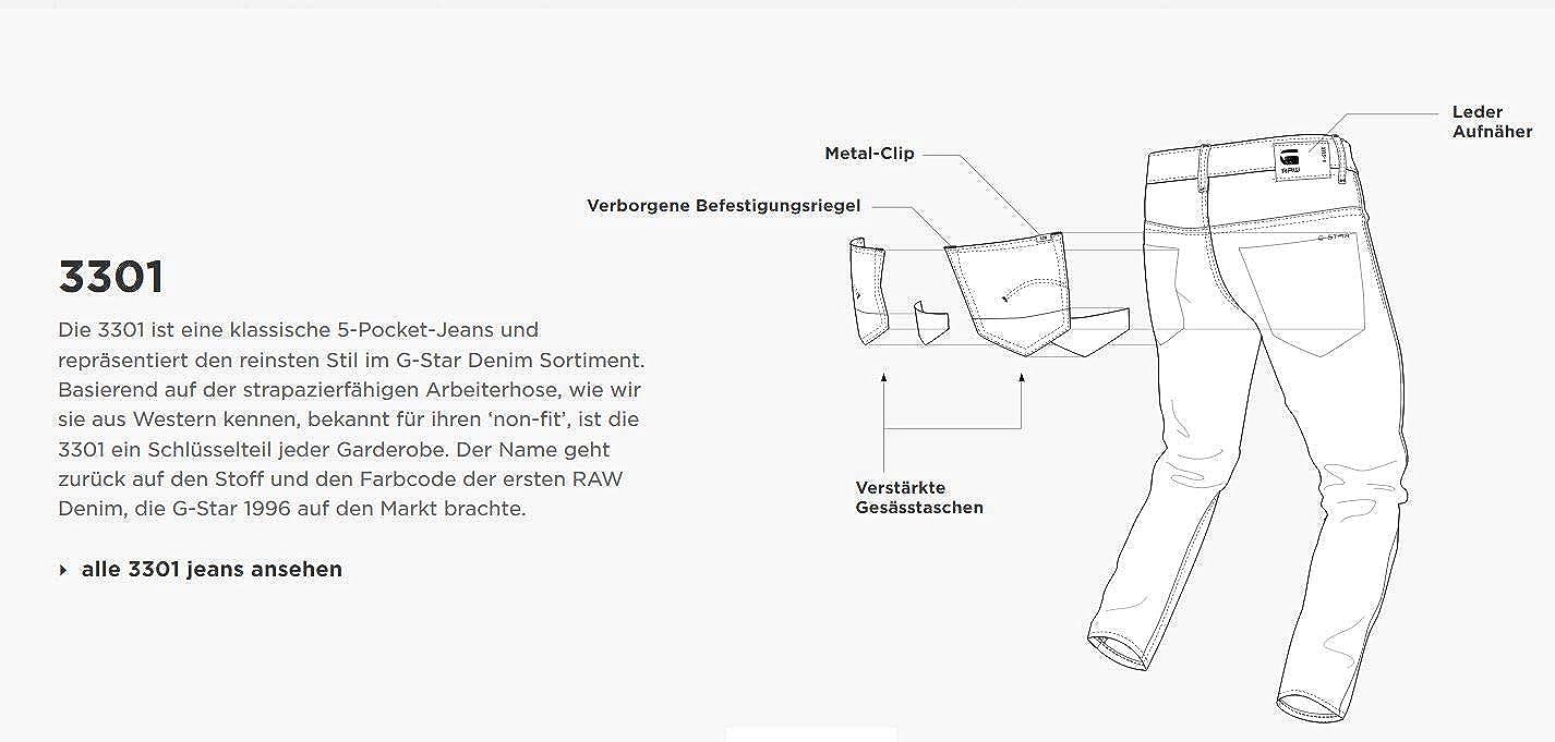 G-STAR RAW Herren 3301 Slim Jeans B07K8W18R6 Jeanshosen Fairer Fairer Fairer Preis 90f802