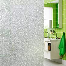Glitter Design Decorative Frosted Privacy Window Films for Glass Non-Adhesive Heat Control Anti Uv, 35.4in. By 118in.(90 x 300 Cm)