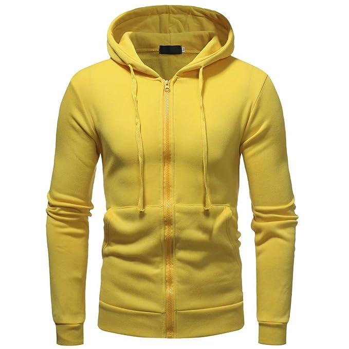 Winwintom-Sudadera Con Capucha Y Cremallera Hombre Cosy Sport Outwear Sudadera Hoodie Casual Sweatshirt Top