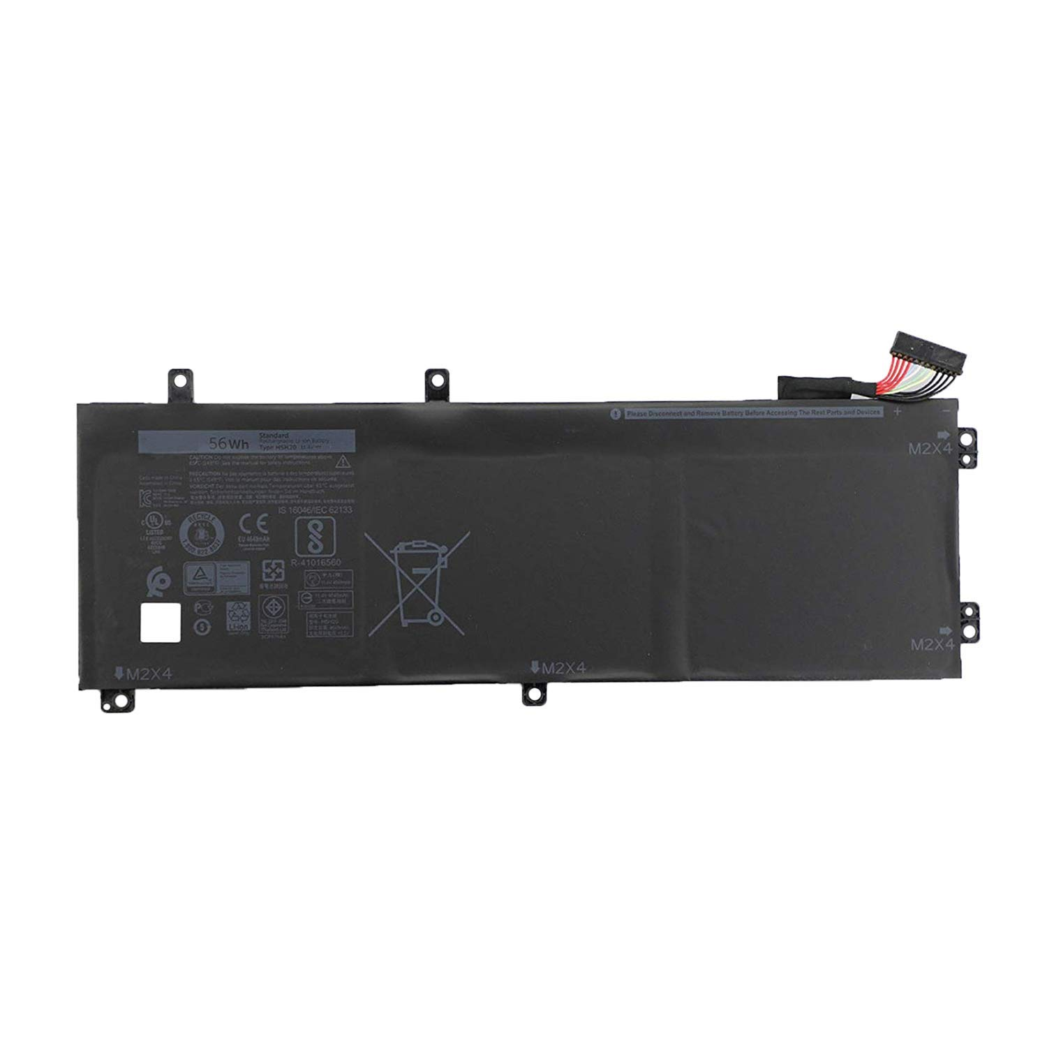 SUNNEAR Replacement Laptop Battery 11.4V 56Wh 4946mAh 3-Cell H5H20 for Dell XPS 15 9560 9570 Precision 5520 M5520 Series Notebook Compatible with 6GPTY 62MJV M7R96