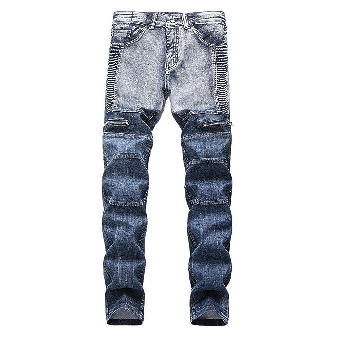 FELZ Tejanos Hombre, Vaqueros Skinny para Hombre, Pantalones ...