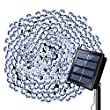 Solar Lights Outdoor String Lights 72 ft 8 Modes 200 LED Christmas Lights Waterproof Decotation Outdoor Lighting for Gardens Patio Xmas Tree Holiday Halloween Party (White)