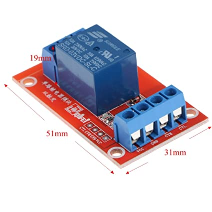 D DOLITY DC 3V 1-Channel Relay Module with Optocoupler High Level Triger for Arduino