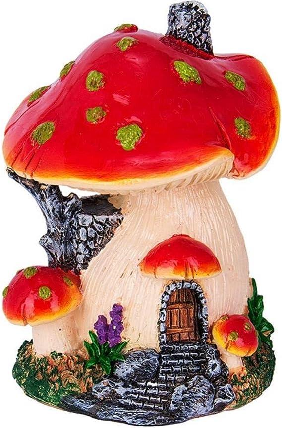 Escultura Seta roja Mini Paisaje Casa Hada Jardín Decoración Resina Artesanía Ornamento Miniatura: Amazon.es: Hogar