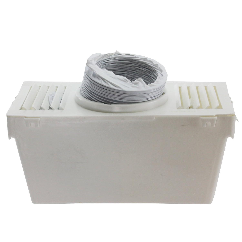 1,2/m Spares2go Kondensator mit Abluftschlauch mit 3 Adaptern f/ür Trockner von White Knight