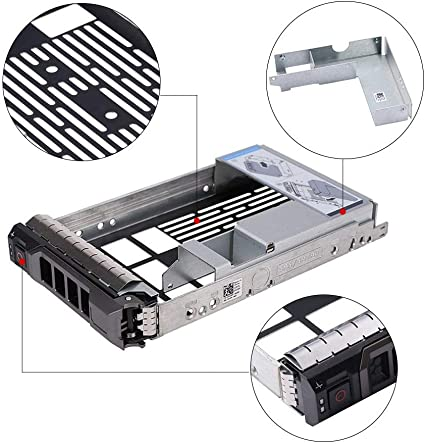 "DELL 3.5/"" 0X968D F238F X968D SAS//SATA Tray 2.5/"" to 3.5/"" HDD Caddy Adapter 5"