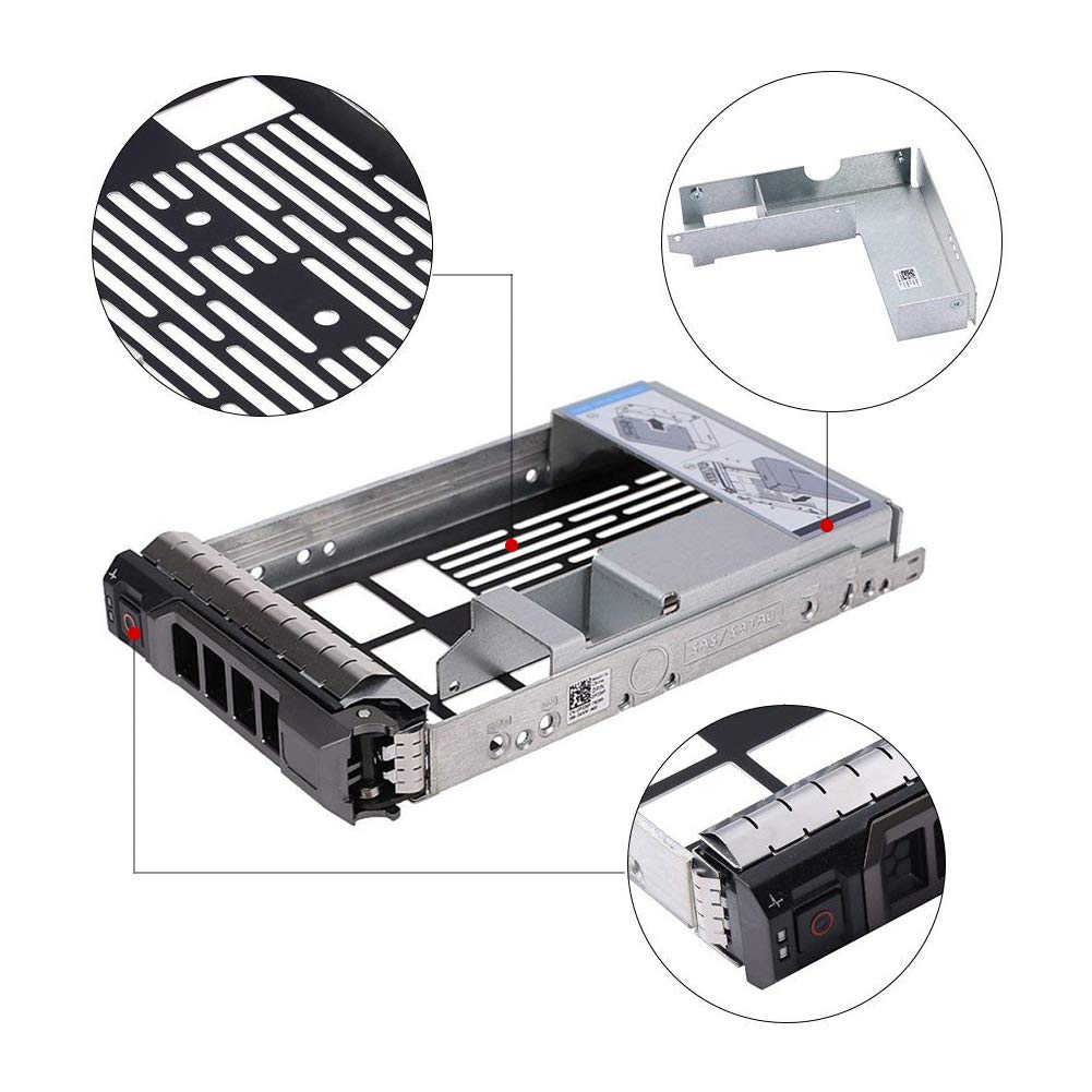 """Dell 2.5/"""" to 3.5/"""" HDD Adapter 9W8C4+3.5/"""" F238F Tray for Dell PowerEdge R510 R515"""