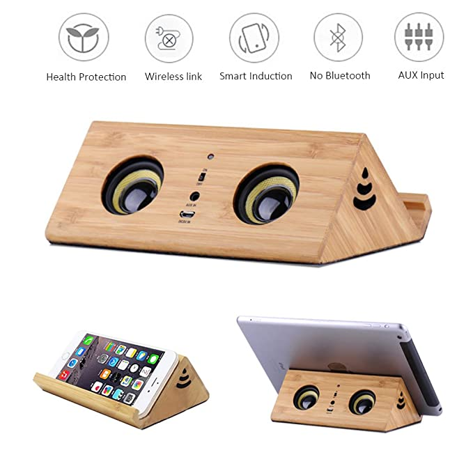 Review Wooden Speaker Smart Triangle