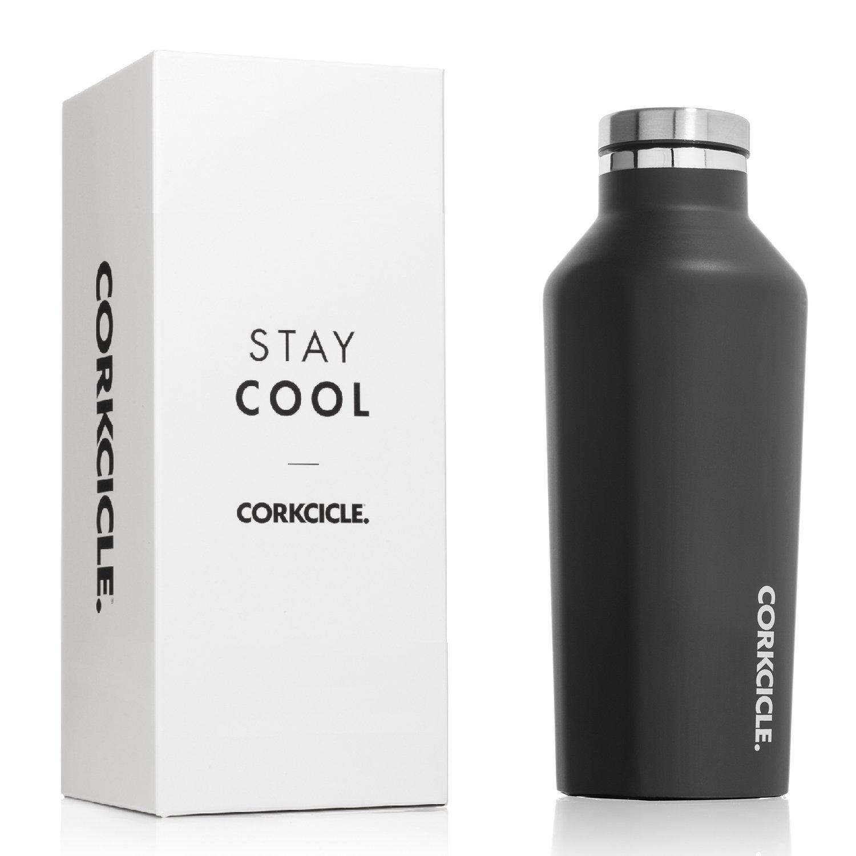 Corkcicle Canteenクラシックコレクション – 水ボトル – Triple Insulated飛散防止ステンレススチール B01GG0CDZW 16 oz マットブラック マットブラック 16 oz